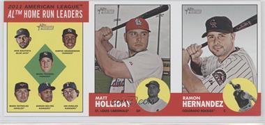 2012 Topps Heritage Boxloader Ad Panel #HRMHRH - Jose Bautista, Curtis Granderson, Mark Teixeira, Mark Reynolds, Adrian Beltre, Ian Kinsler, Matt Holliday, Ramon Hernandez