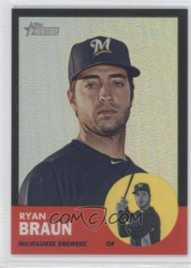 2012 Topps Heritage Chrome Black Refractor #HP2 - Ryan Braun /63