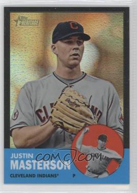 2012 Topps Heritage Chrome Black Refractor #HP58 - Justin Masterson /63
