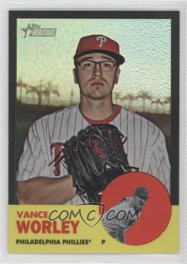 2012 Topps Heritage Chrome Black Refractor #HP63 - Vance Worley /63