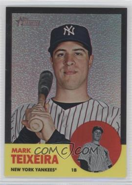 2012 Topps Heritage Chrome Black Refractor #HP77 - Mark Teixeira /63