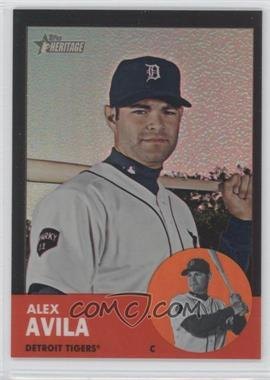 2012 Topps Heritage Chrome Black Refractor #HP85 - Alex Avila /63
