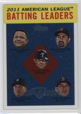2012 Topps Heritage Chrome #HP92 - Adrian Gonzalez, Michael Young, Jacoby Ellsbury, Victor Martinez, Miguel Cabrera /1963