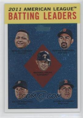 2012 Topps Heritage Chrome #HP92 - Adrian Gonzalez, Michael Young, Victor Alvarez, Jacoby Ellsbury /1963