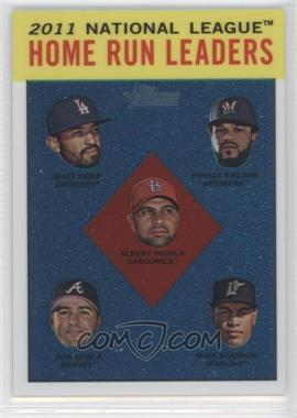 2012 Topps Heritage Chrome #HP93 - National League Home Run Leaders (Matt Kemp, Prince Fielder, Albert Pujols, Dan Uggla, Mike Stanton) /1963