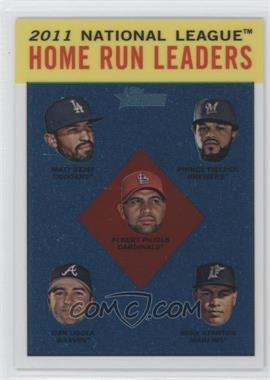 2012 Topps Heritage Chrome #HP93 - National League Home Run Leaders (Matt Kemp, Prince Fielder, Albert Pujols, Dan Uggla, Mike Stanton) /1963