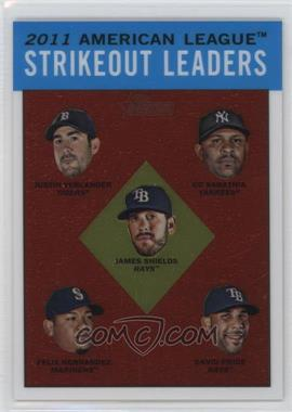 2012 Topps Heritage Chrome #HP95 - Justin Verlander, CC Sabathia, Felix Hernandez, David Price, James Shields /1963
