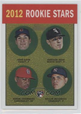 2012 Topps Heritage Chrome #HP96 - Addison Reed, Adron Chambers, Dellin Betances /1963