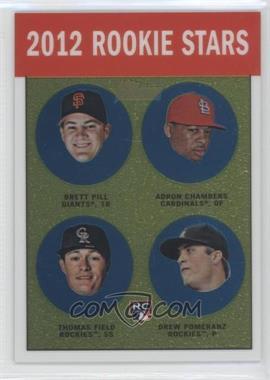 2012 Topps Heritage Chrome #HP98 - Adron Chambers, Drew Pomeranz, Brett Pill, Mark Fidrych, Thomas Field /1963
