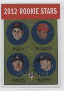 2012 Topps Heritage Chrome #HP98 - Adron Chambers, Drew Pomeranz, Brett Pill, Mark Fidrych /1963