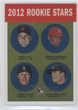 2012 Topps Heritage Chrome #HP98 - Adron Chambers, Drew Pomeranz, Brett Pill, Thomas Field /1963