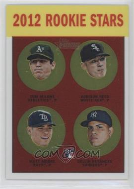 2012 Topps Heritage Chrome #HP99 - Tom Milone, Addison Reed, Matt Moore, Dellin Betances /1963
