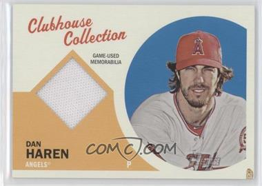 2012 Topps Heritage Clubhouse Collection Relic #CCR-DH - Dan Haren