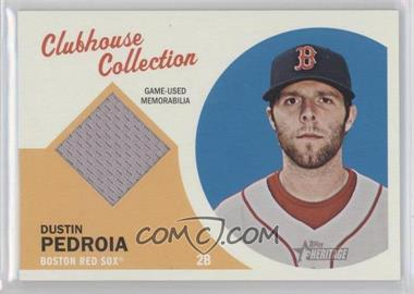 2012 Topps Heritage Clubhouse Collection Relic #CCR-DP - Dustin Pedroia