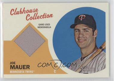 2012 Topps Heritage Clubhouse Collection Relic #CCR-JM - Joe Mauer