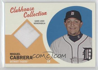 2012 Topps Heritage Clubhouse Collection Relic #CCR-MC - Miguel Cabrera