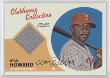 2012 Topps Heritage Clubhouse Collection Relic #CCR-RHO - Ryan Howard