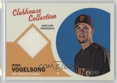 2012 Topps Heritage Clubhouse Collection Relic #CCR-RV - Ryan Vogelsong