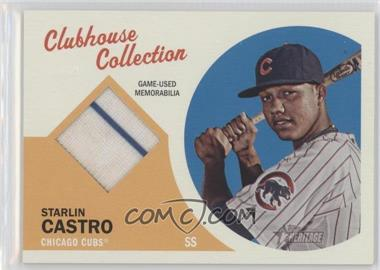 2012 Topps Heritage Clubhouse Collection Relic #CCR-SC - Starlin Castro