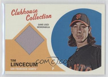 2012 Topps Heritage Clubhouse Collection Relic #CCR-TL - Tim Lincecum