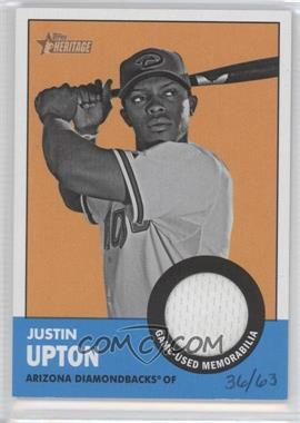 2012 Topps Heritage Clubhouse Collection Relic #ISR-JU - Justin Upton /63