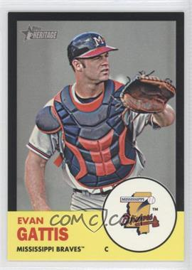 2012 Topps Heritage Minor League Edition - [Base] - Black Border #99 - Evan Gattis /96