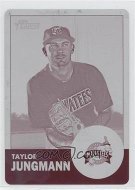 2012 Topps Heritage Minor League Edition - [Base] - Printing Plate Magenta #131 - Taylor Jungmann /1