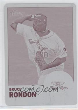 2012 Topps Heritage Minor League Edition - [Base] - Printing Plate Magenta #132 - Bruce Rondon /1