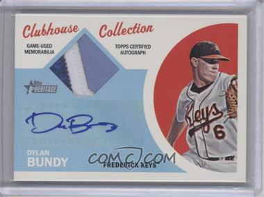 2012 Topps Heritage Minor League Edition - Clubhouse Collection Autographed Patches - [Autographed] #CCAP-DB - Dylan Bundy /10