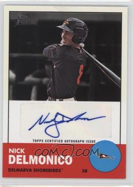 2012 Topps Heritage Minor League Edition - Real One Autographs - [Autographed] #ROA-ND - Nick Delmonico