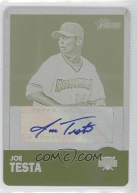 2012 Topps Heritage Minor League Edition - Real One Autographs - Printing Plate Yellow [Autographed] #ROA-JT - Joe Testa /1