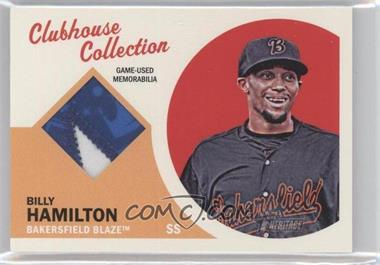 2012 Topps Heritage Minor League Edition Clubhouse Collection Patches #CCP-BH - Billy Hamilton /15