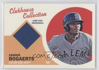 2012 Topps Heritage Minor League Edition Clubhouse Collection Relics #CCR-XB - Xander Bogaerts