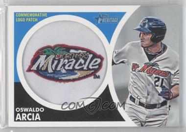 2012 Topps Heritage Minor League Edition Manufactured Hat Logo Patch #MLL-OA - Oswaldo Arcia