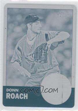 2012 Topps Heritage Minor League Edition Printing Plate Cyan #76 - Donn Roach /1