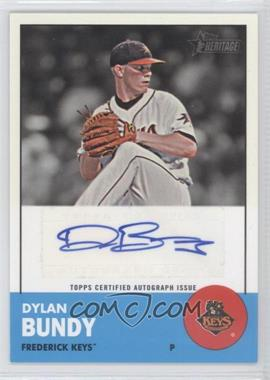 2012 Topps Heritage Minor League Edition Real One Autographs [Autographed] #ROA-DB - Dylan Bundy