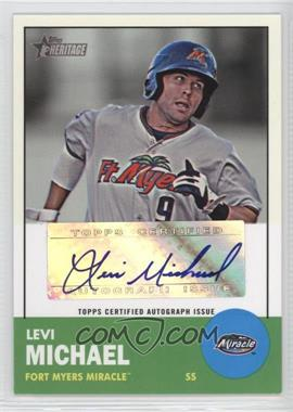 2012 Topps Heritage Minor League Edition Real One Autographs [Autographed] #ROA-LM - Levi Michael