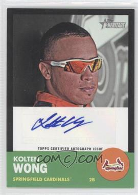 2012 Topps Heritage Minor League Edition Real One Autographs Black Border [Autographed] #ROA-KW - Kolten Wong /50