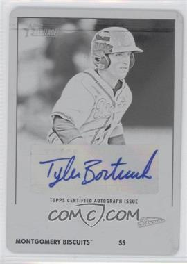 2012 Topps Heritage Minor League Edition Real One Autographs Printing Plate Black [Autographed] #ROA-TB - Tyler Bortnick /1