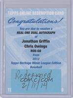 Jonathan Griffin, Chris Owings /15 [REDEMPTION Being Redeemed]