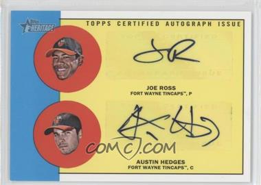 2012 Topps Heritage Minor League Edition Real One Dual Autographs [Autographed] #ROD-RH - Austin Hedges, Joe Ross /15