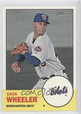 2012 Topps Heritage Minor League Edition #204 - Zack Wheeler