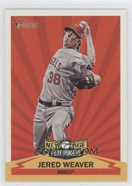 2012 Topps Heritage New Age Performers #NAP JW - Jered Weaver
