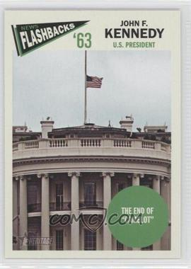 2012 Topps Heritage News Flashbacks #NF-JK - John F. Kennedy