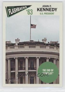 2012 Topps Heritage News Flashbacks #NF-JK - John F. Kennedy