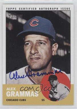 2012 Topps Heritage Real One Certified Autographs [Autographed] #ROA-AGR - Alex Grammas