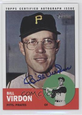 2012 Topps Heritage Real One Certified Autographs [Autographed] #ROA-BV - Bill Virdon