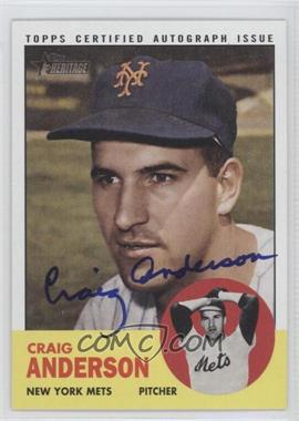 2012 Topps Heritage Real One Certified Autographs [Autographed] #ROA-CA - Craig Anderson
