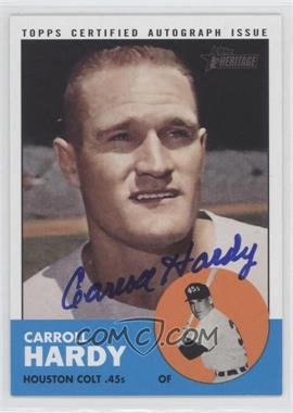 2012 Topps Heritage Real One Certified Autographs [Autographed] #ROA-CH - Carroll Hardy