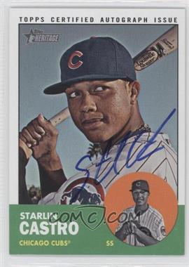 2012 Topps Heritage Real One Certified Autographs [Autographed] #ROA-SC - Starlin Castro